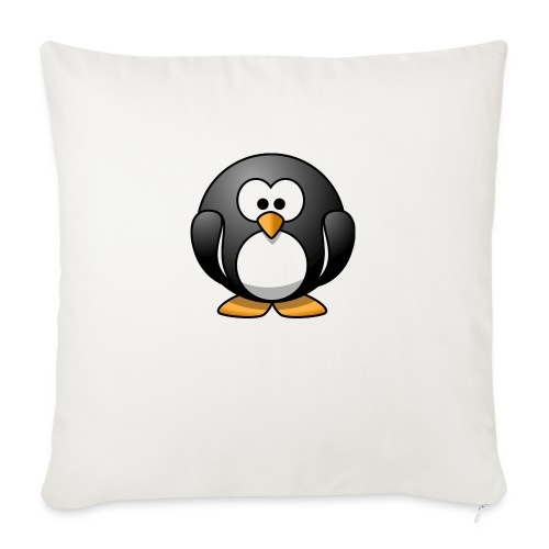 "Funny Penguin T-Shirt - Throw Pillow Cover 18"" x 18"""