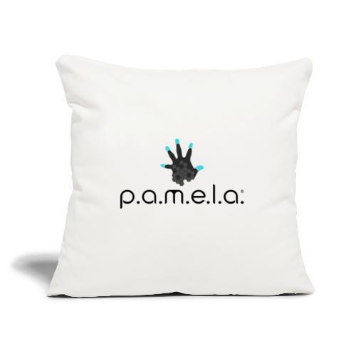 "P.A.M.E.L.A. Logo Black - Throw Pillow Cover 17.5"" x 17.5"""