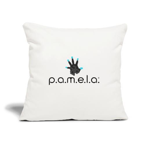 "P.A.M.E.L.A. Logo Black - Throw Pillow Cover 17.5"" x 17.5"""