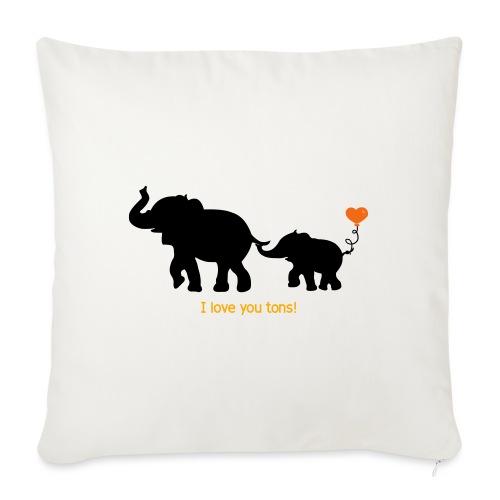 """I Love You Tons! - Throw Pillow Cover 18"""" x 18"""""""