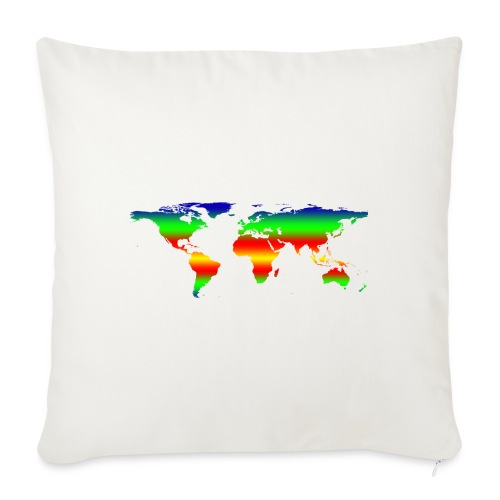 """colorful world - Throw Pillow Cover 18"""" x 18"""""""