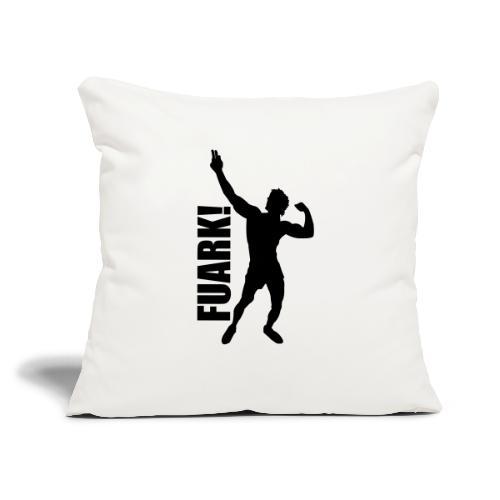 "Zyzz Silhouette FUARK - Throw Pillow Cover 17.5"" x 17.5"""