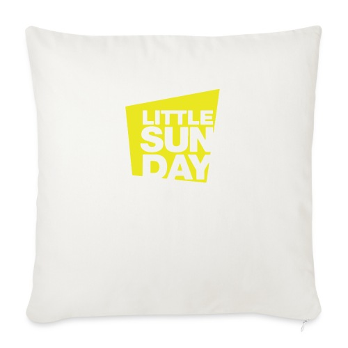 "littleSUNDAY Official Logo - Throw Pillow Cover 18"" x 18"""