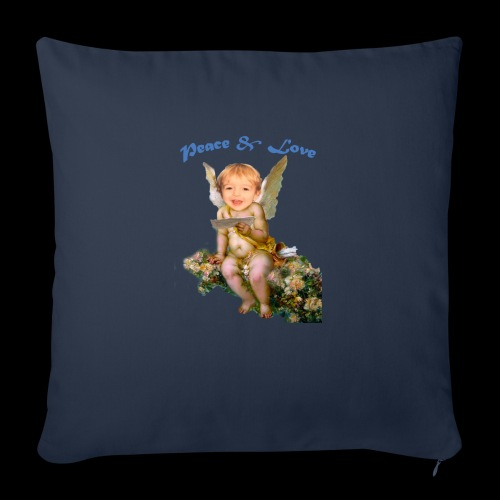 """Peace and Love - Throw Pillow Cover 18"""" x 18"""""""
