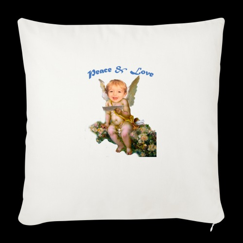 "Peace and Love - Throw Pillow Cover 18"" x 18"""