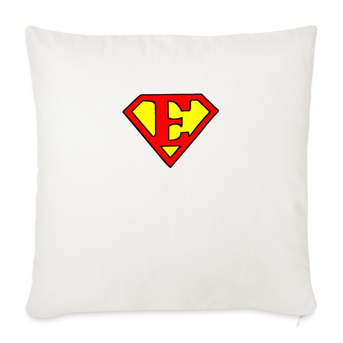"super E - Throw Pillow Cover 18"" x 18"""