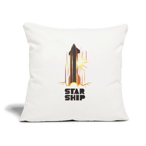 "Star Ship Mars - Light - Throw Pillow Cover 17.5"" x 17.5"""