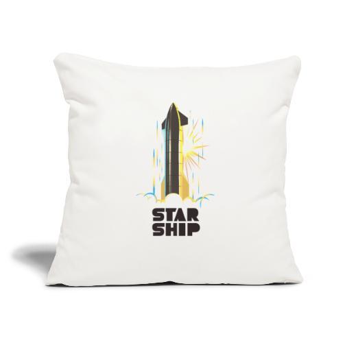"Star Ship Earth - Light - Throw Pillow Cover 17.5"" x 17.5"""
