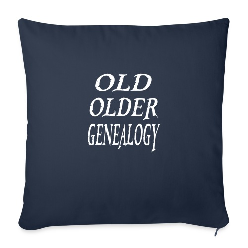 """Old older genealogy family tree funny gift - Throw Pillow Cover 18"""" x 18"""""""