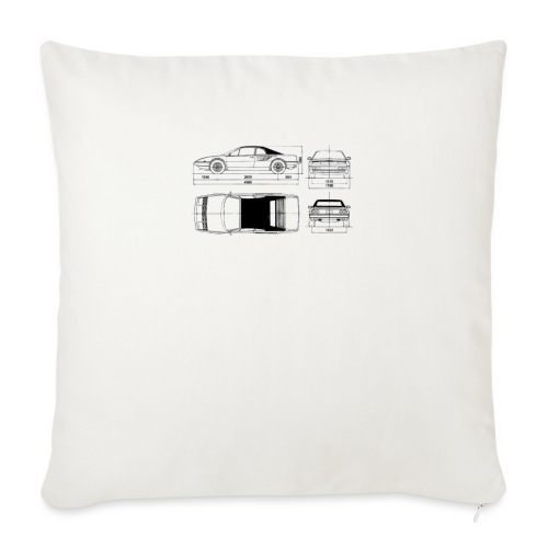 """artists rendering - Throw Pillow Cover 18"""" x 18"""""""