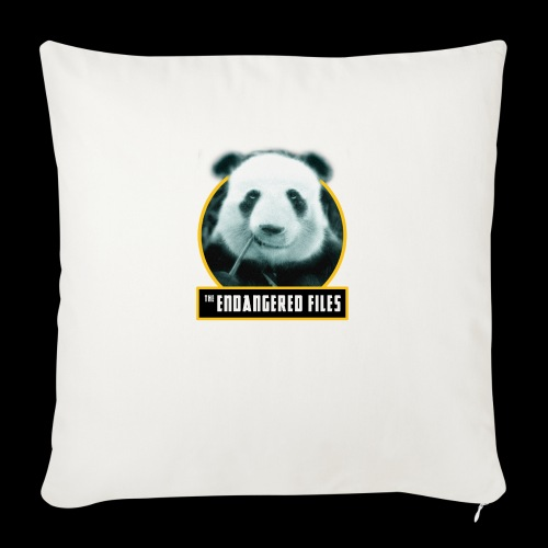 "THE ENDANGERED FILES - Throw Pillow Cover 18"" x 18"""