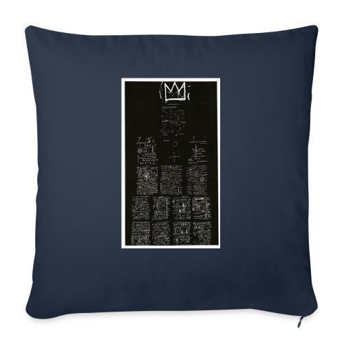 "J. M. Basquiat - Throw Pillow Cover 18"" x 18"""