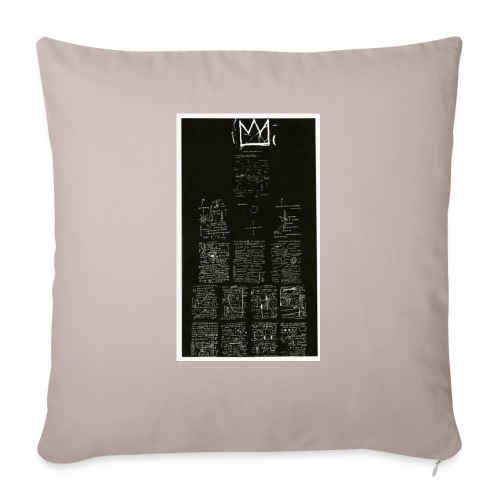 "J. M. Basquiat - Throw Pillow Cover 18"" x 18"""