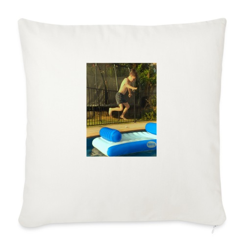 "jump clothing - Throw Pillow Cover 18"" x 18"""