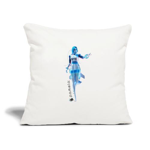 "P.A.M.E.L.A. Figure - Throw Pillow Cover 17.5"" x 17.5"""