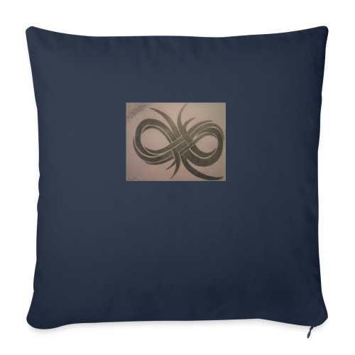 "Infinity - Throw Pillow Cover 18"" x 18"""