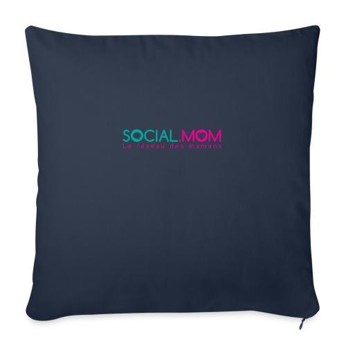 """Social.mom logo français - Throw Pillow Cover 18"""" x 18"""""""