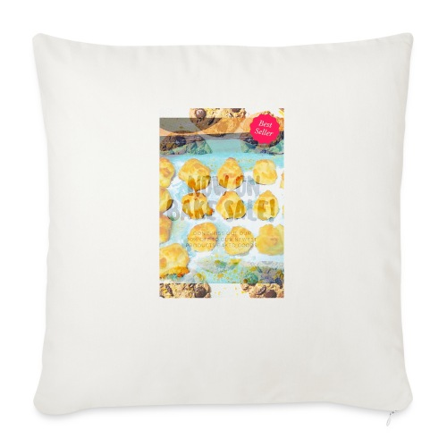 "Best seller bake sale! - Throw Pillow Cover 18"" x 18"""