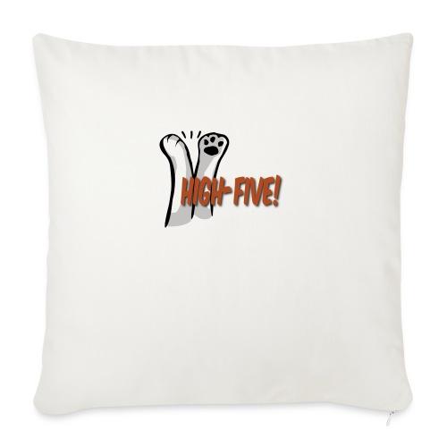 """hi5 paws - Throw Pillow Cover 18"""" x 18"""""""
