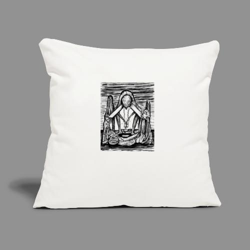 "Wolfman Originals Black & White 11 - Throw Pillow Cover 17.5"" x 17.5"""