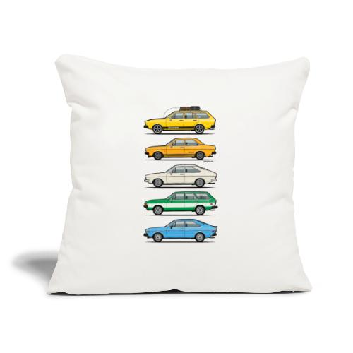"""Stack of VAG B1 VDubs and Four Rings - Throw Pillow Cover 17.5"""" x 17.5"""""""
