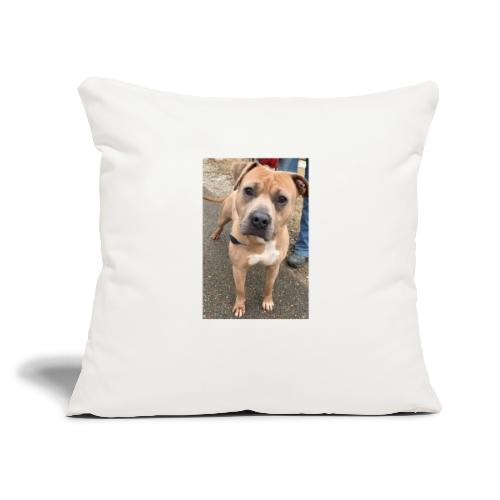 """Brute Pup - Throw Pillow Cover 17.5"""" x 17.5"""""""