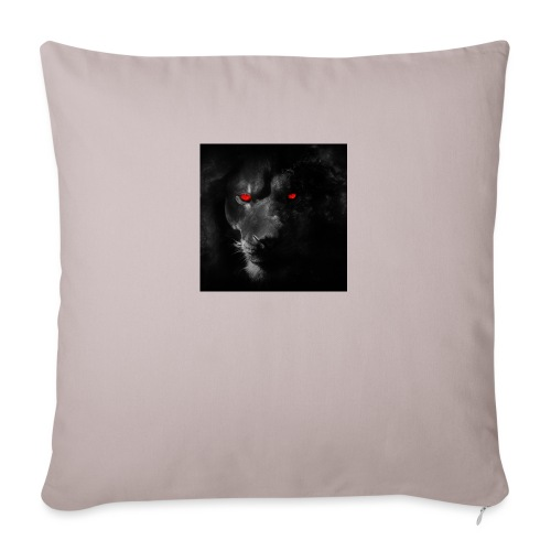 "Black ye - Throw Pillow Cover 18"" x 18"""