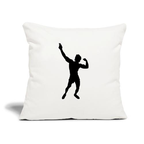 "Zyzz Silhouette vector - Throw Pillow Cover 17.5"" x 17.5"""