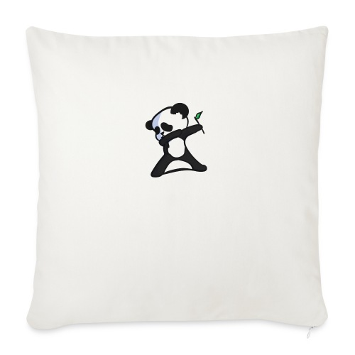 "Panda DaB - Throw Pillow Cover 18"" x 18"""