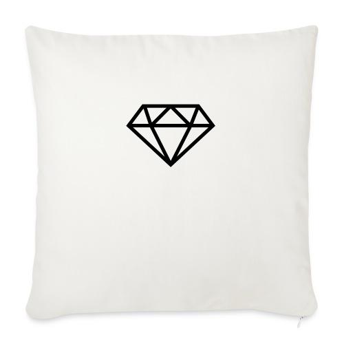 "diamond outline 318 36534 - Throw Pillow Cover 18"" x 18"""