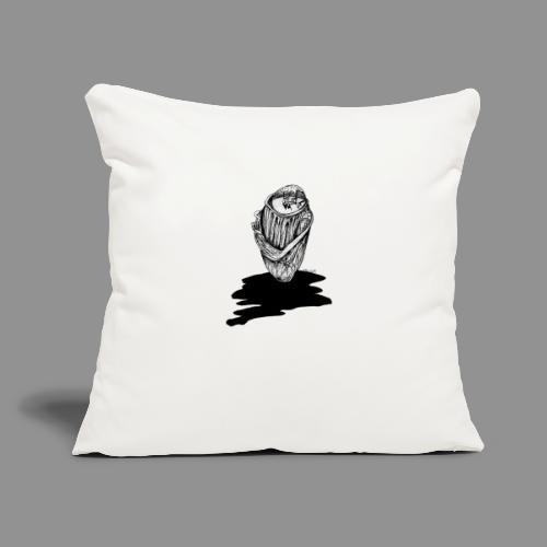 "Wolfman Originals Black & White 16 - Throw Pillow Cover 17.5"" x 17.5"""