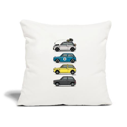 "Stack of Vintage Honda N360 N600 Kei Cars - Throw Pillow Cover 17.5"" x 17.5"""