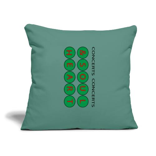 """Heart & Soul Concerts Money Green - Throw Pillow Cover 17.5"""" x 17.5"""""""