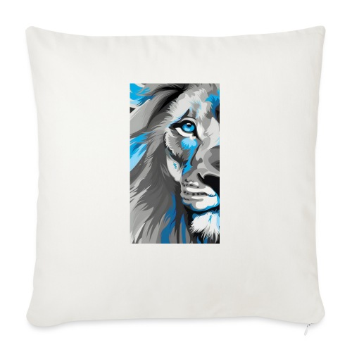 """Blue lion king - Throw Pillow Cover 17.5"""" x 17.5"""""""