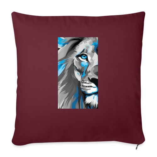 "Blue lion king - Throw Pillow Cover 17.5"" x 17.5"""