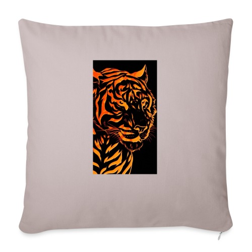 "Fire tiger - Throw Pillow Cover 18"" x 18"""