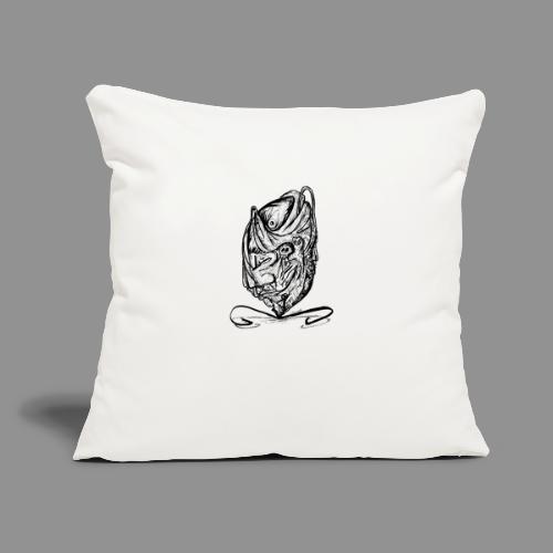 "Wolfman Originals Black & White 12 - Throw Pillow Cover 17.5"" x 17.5"""
