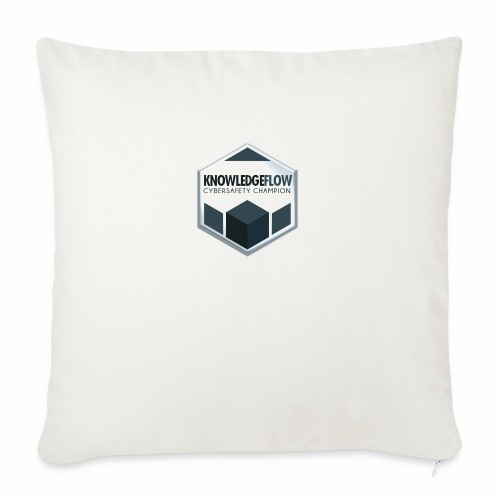 """KnowledgeFlow Cybersafety Champion - Throw Pillow Cover 17.5"""" x 17.5"""""""