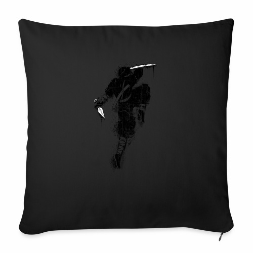 "Ninja - Throw Pillow Cover 18"" x 18"""