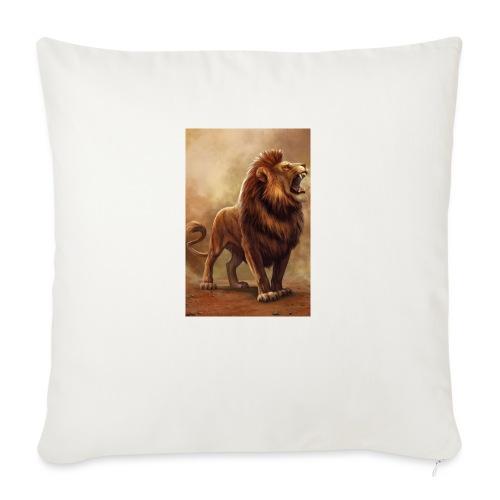 """Lion power roar - Throw Pillow Cover 17.5"""" x 17.5"""""""