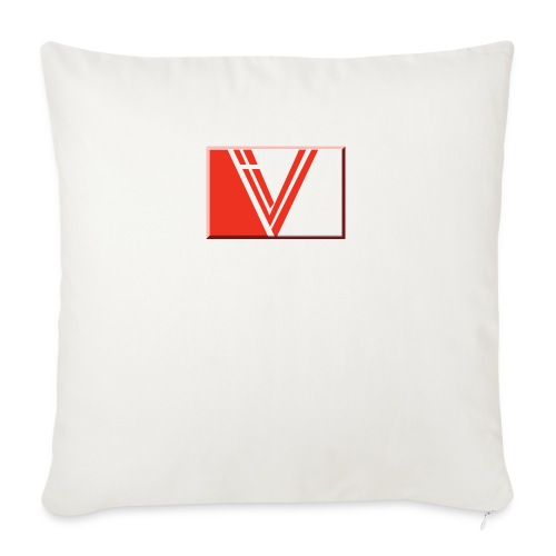 "LBV red drop - Throw Pillow Cover 18"" x 18"""