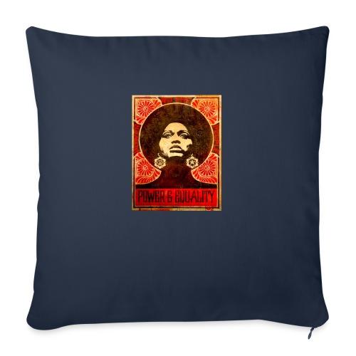 "Angela Davis proPoster - Throw Pillow Cover 18"" x 18"""