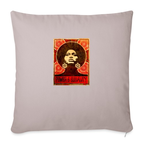 "Angela Davis proPoster - Throw Pillow Cover 18"" x 18"""