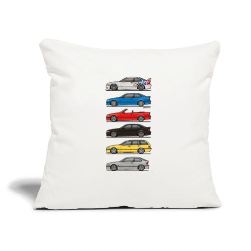 """Stack of E36 Variants - Throw Pillow Cover 17.5"""" x 17.5"""""""