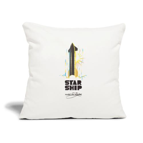 """Star Ship Earth - Light - With Logo - Throw Pillow Cover 17.5"""" x 17.5"""""""