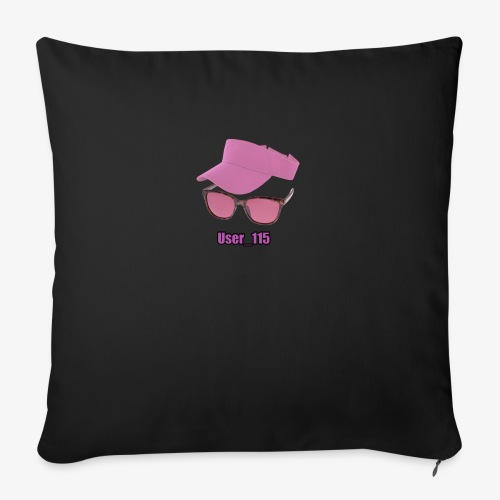"""Glasses And Hat - Throw Pillow Cover 18"""" x 18"""""""