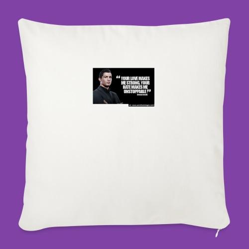"255777-Cristiano-ronaldo------quote-w - Throw Pillow Cover 18"" x 18"""