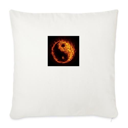 """Panda fire circle - Throw Pillow Cover 17.5"""" x 17.5"""""""