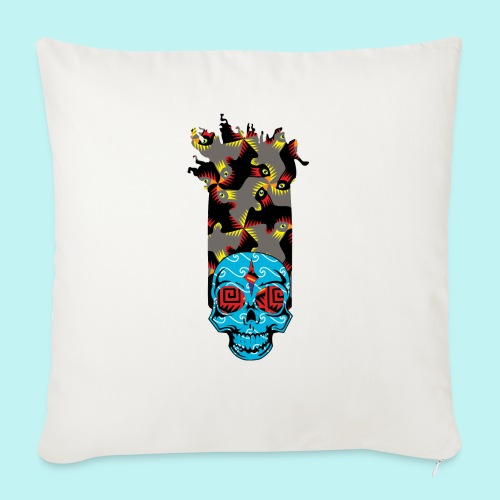 """90s KID SKULLY - Throw Pillow Cover 17.5"""" x 17.5"""""""