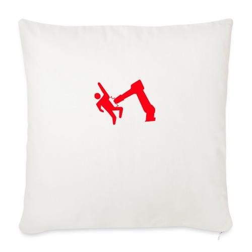 "Robot Wins - Throw Pillow Cover 17.5"" x 17.5"""